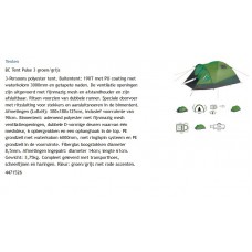 3 persoons Bo-camp tent, model pulse3