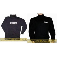 t-shirt security lange mouw en kol