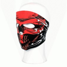 Biker mask full face red skull
