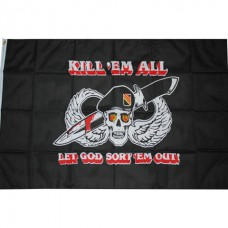 kill em all, let god sort them out, vlag