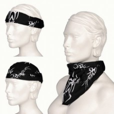 3 in 1 bandana, tribal, zwart