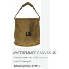 wateremmer canvas met US stempel