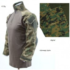 ubac tactical shirt met elleboogbeschermers digital