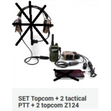 SET Topcom + 2 tactical PTT