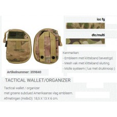 Tactical wallet/organizer tas