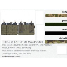 Triple open top M4 mag pouch tas