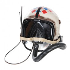 Metalen model Helm wit