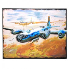 Metalen model Painting bombing plane