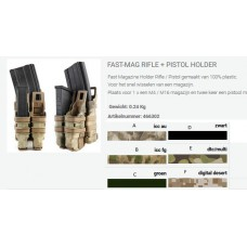 Fast-Magazijn rifle + pistol holder tas