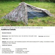 1 persoons tent, blackthorne