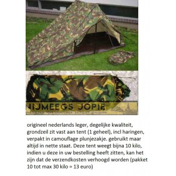 1 persoons camouflage tent
