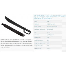 machete cold steel 18 inch D-guard