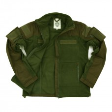 combat fleece jas, groen