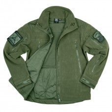 combat fleece jas heavy, groen