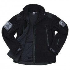 combat fleece jas heavy, zwart