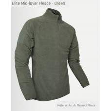fleece mid-layer, thermoshirt, groen, viper