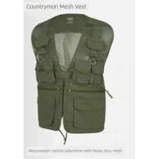 bodywarmer netting, body vest, dun, groen