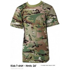 kinder t-shirt multi-camouflage