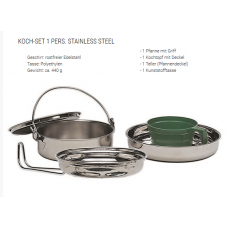 kookset 1 persoons, rvs
