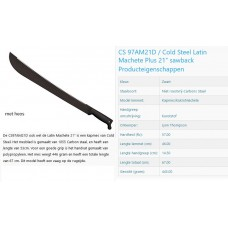 machete cold steel 21inch, met zaagrand