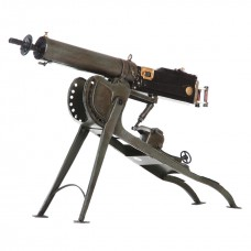 Metalen model Vintage machine gun