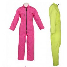 kinderoverall, lime of roze