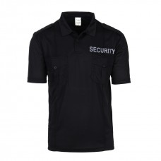 Polo Security exclusive, zwart met epauletten