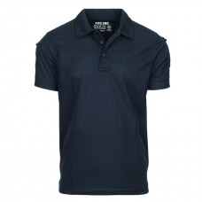 Polo stretch quick dry, donker blauw