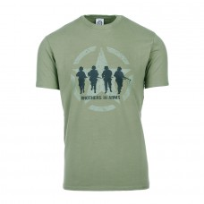 t-shirt brothers in arms, groen