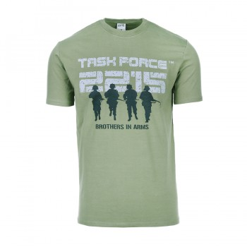 t-shirt brothers in arms 2215, groen
