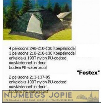 camouflage tent fostex, iglo model, 2, 3 of 4 persoons
