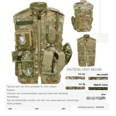 tactical airsoft vest Recon, zonder accesoires